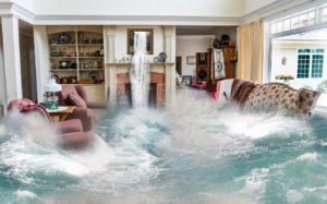 sonhar com inundação
