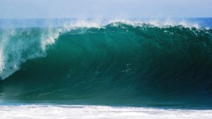 sonhar com ondas gigantes