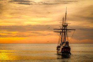 Sonhar com navio em alto mar